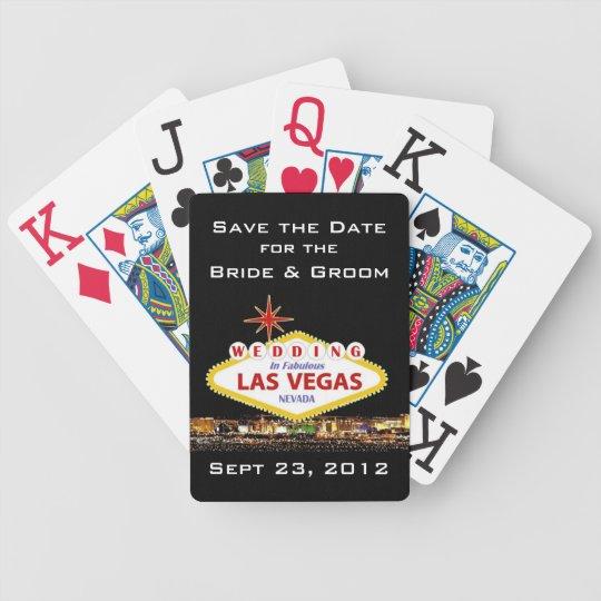 Save the Date Las Vegas Poker Cards