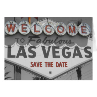 Save the Date Las Vegas Sign Card