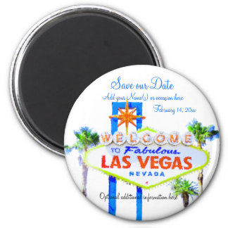 Save the Date Las Vegas Sign Magnet