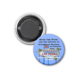 Save the Date  Las Vegas Weddin Magnet