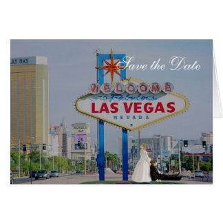 Save the Date Las Vegas Wedding Card with B&G