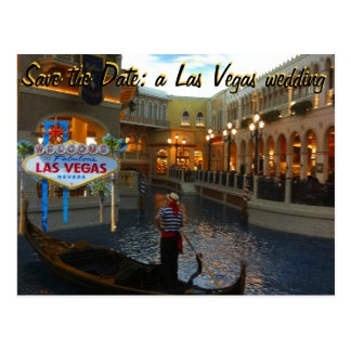 Save the Date Las Vegas Wedding Invite Postcard