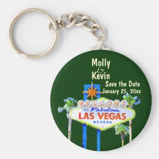 Save the Date Las Vegas Wedding Keychain