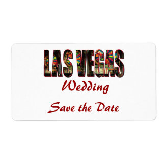 Save the Date/Las Vegas Wedding Label