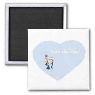 Save the Date Las Vegas Wedding Magnet