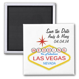 Save the Date Las Vegas WEDDING Magnets