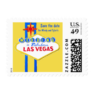 Save the Date Las Vegas Wedding Personalized Postage