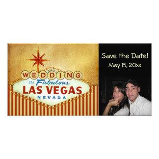 Save the Date Las Vegas Wedding Photocard Photo Card Template