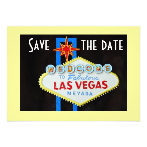 Save the Date Las Vegas Weddings Personalized Invites