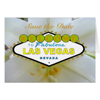 Save the Date Las Vegas with Lily Invitations Cards