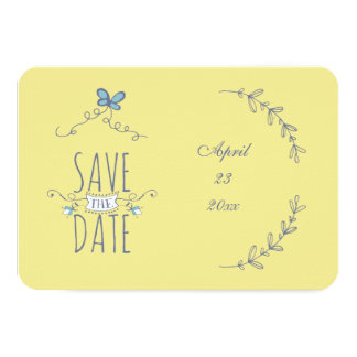 Save the Date Laurels Card