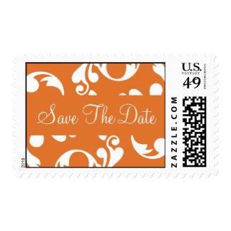 Save The Date Leaf Flourish Postage