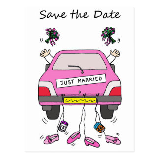 Save the Date Lesbian wedding/civil union card. Postcard