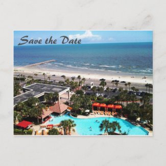 Save the Date: Let's Go To Galveston - Postcard