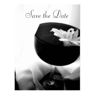 Save the Date Lily Postcard