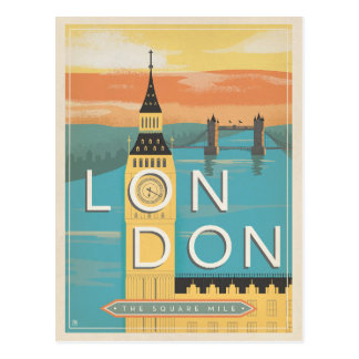 Save the Date | London - The Square Mile Postcard