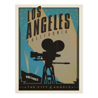 Save the Date   Los Angeles, CA Postcard