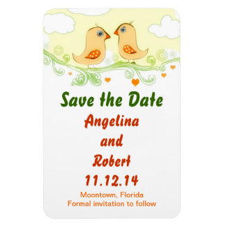save the date love birds cute funny magnets