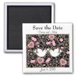 Save the Date Love Birds Wedding Magnet