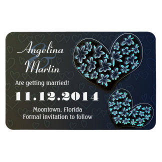 save the date love hearts modern creative magnet