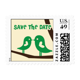 Save the Date Lovebird Postage