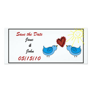 Save the Date Lovebirds Announcement