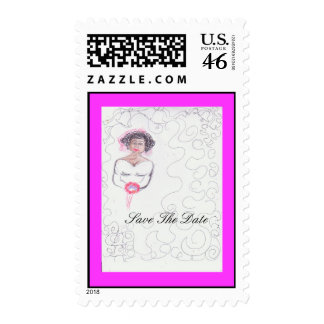 SAVE THE DATE- Lovely Pink Postage & Cards