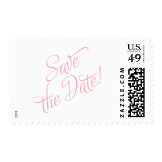 Save the Date Lt. Pink Postage