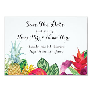 Save The Date Luau Rustic Aloha Tropical Lights Card