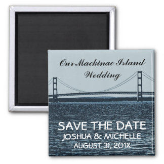 Save The Date Mackinac Island Wedding Magnet