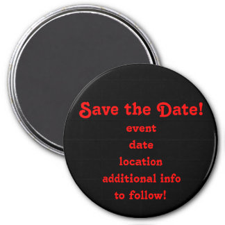 Save the Date! magnet