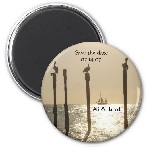 Save The Date Magnet Beach Destination Wedding Zazzle