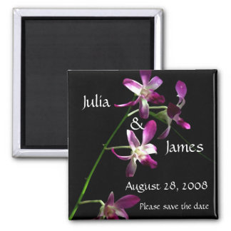 Save the Date Magnet ~ Beautiful Orchids Refrigerator Magnet