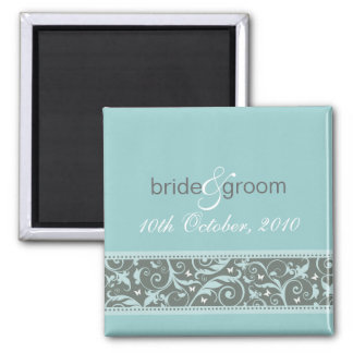 SAVE THE DATE MAGNET :: butterfly - ice blue