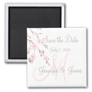 Save the Date Magnet Cherry Blossom Pink