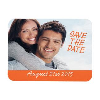 Save The Date Magnet Custom Photo Orange