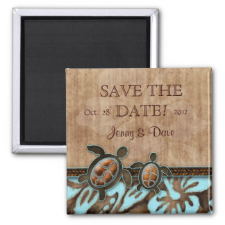 Save the Date Magnet Cute Turtle Beach Wedding BB