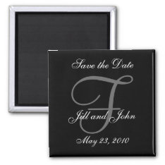 Save The Date Magnet First Names And Initials at Zazzle