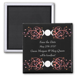 Save the Date Magnet Lesbian Wiccan Wedding
