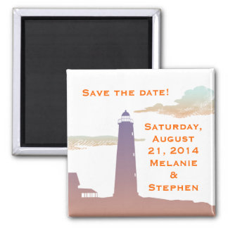 Save-the-Date magnet, Lighthouse series