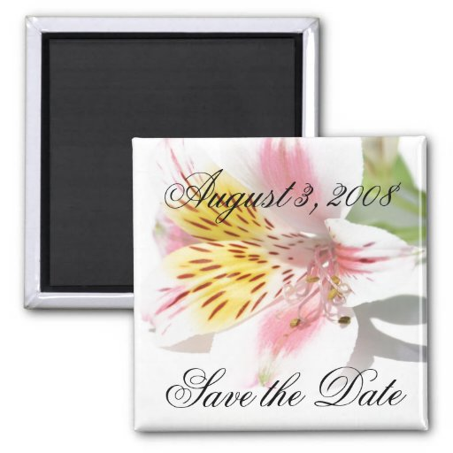 Save the Date Magnet Lilly Magnets