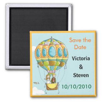Save the Date Magnet - Love Air Balloon
