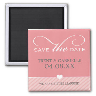 SAVE THE DATE MAGNET :: lovely type SQ 1