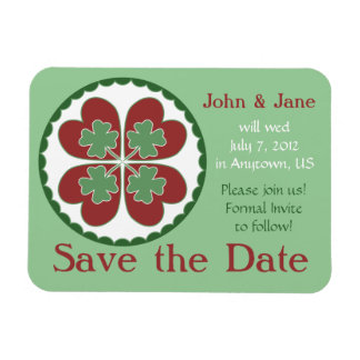 Save the Date Magnet - Lucky in Love Hex