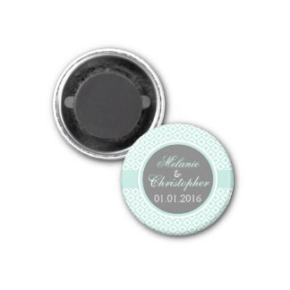 Save the Date magnet mint green grey elegant