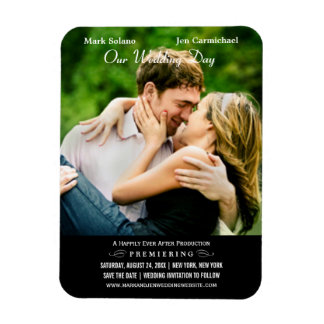 Save the Date Magnet   Movie Poster Design