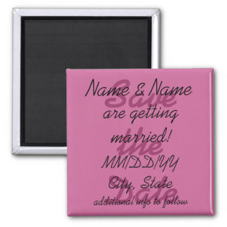 Save the Date magnet - personalize info