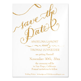 Save the Date Magnet Postcard Script Calligraphy