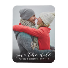 Save The Date Magnet | Script at Zazzle