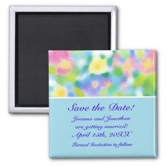 'Save the Date' Magnet, Spring Flowers Magnet